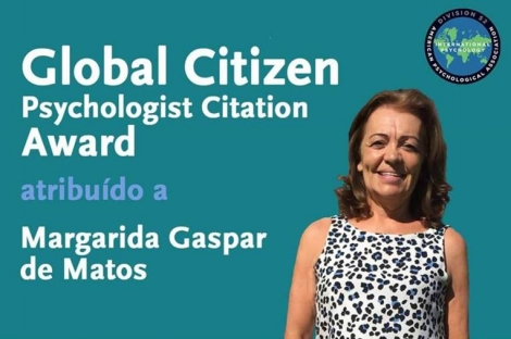 Prémio Global Citezen Psychologist Citation atribuído a Margarida Gaspar de Matos